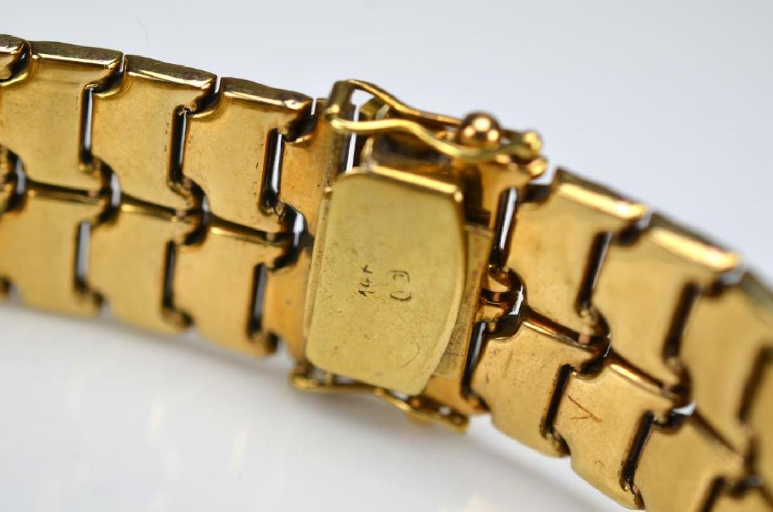 Gold flat link articulated bracelet - 2