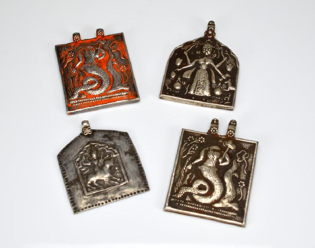 Lot of Indian amulet pendants
