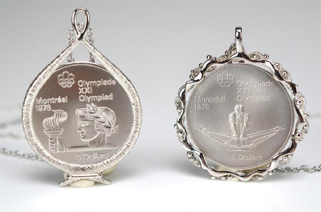 Two $5 silver Olympic medals - 2