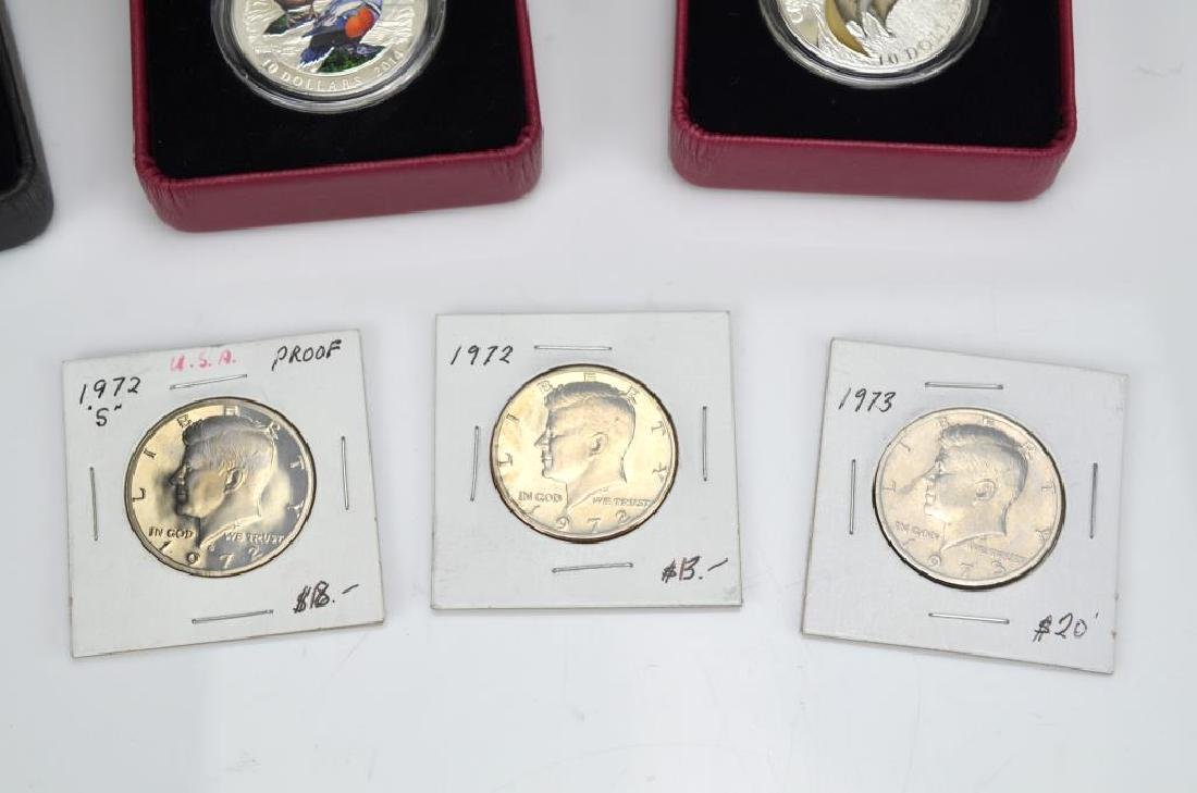 Lot of Canadian silver and American coins - 2