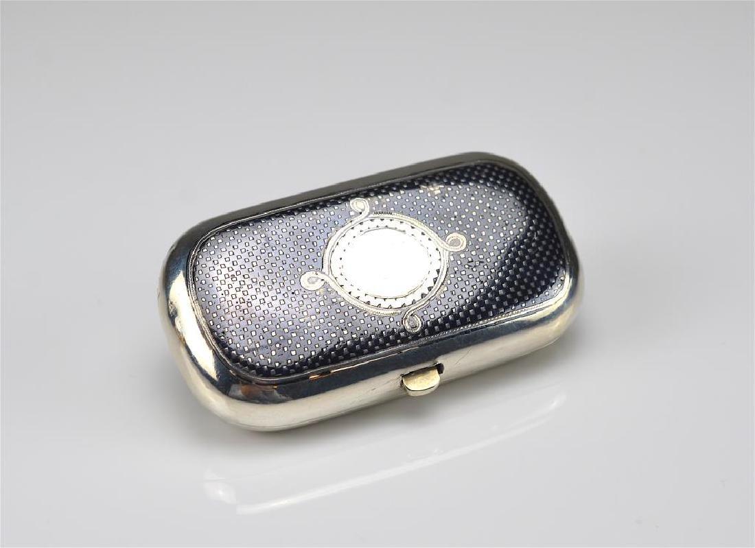 19th C Russian silver niello presentation box - 2