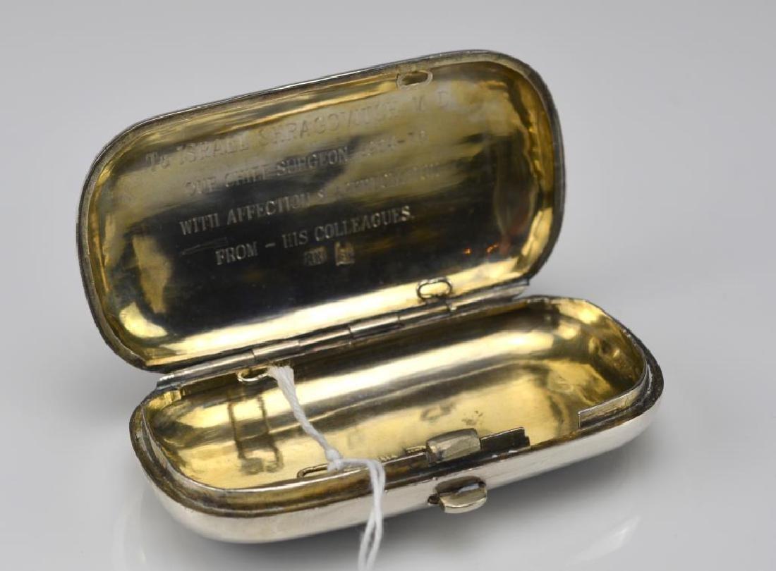 19th C Russian silver niello presentation box - 3