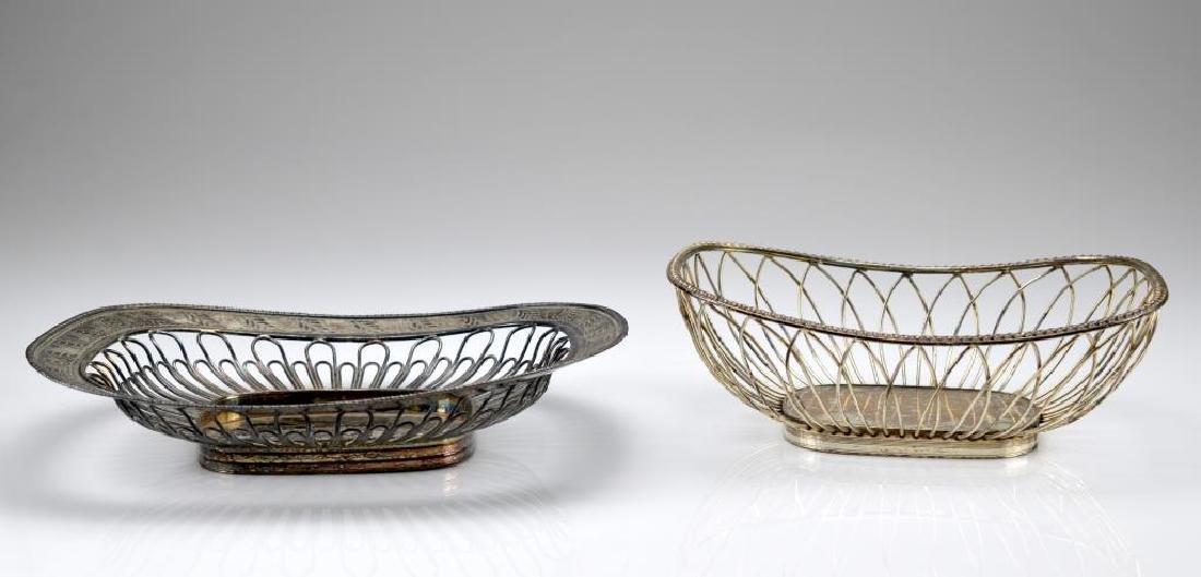 Three silver plate wirework baskets - 2