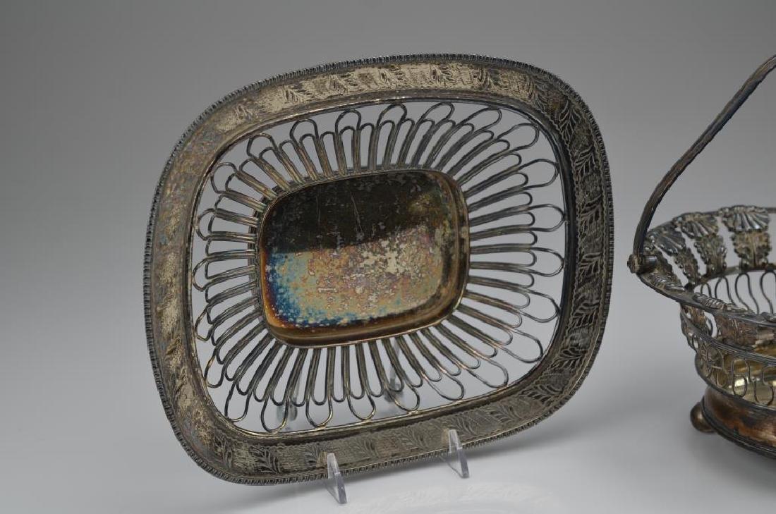 Three silver plate wirework baskets - 3