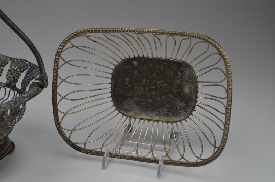 Three silver plate wirework baskets - 5