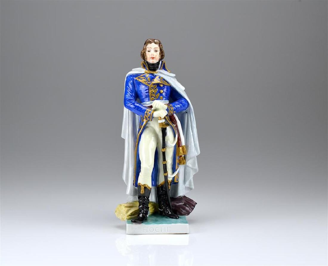 Austrian porcelain figure of a French soldier