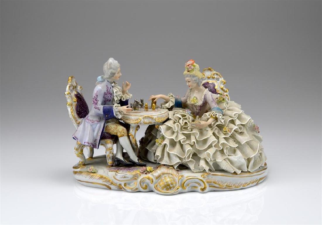 Continental porcelain figural group