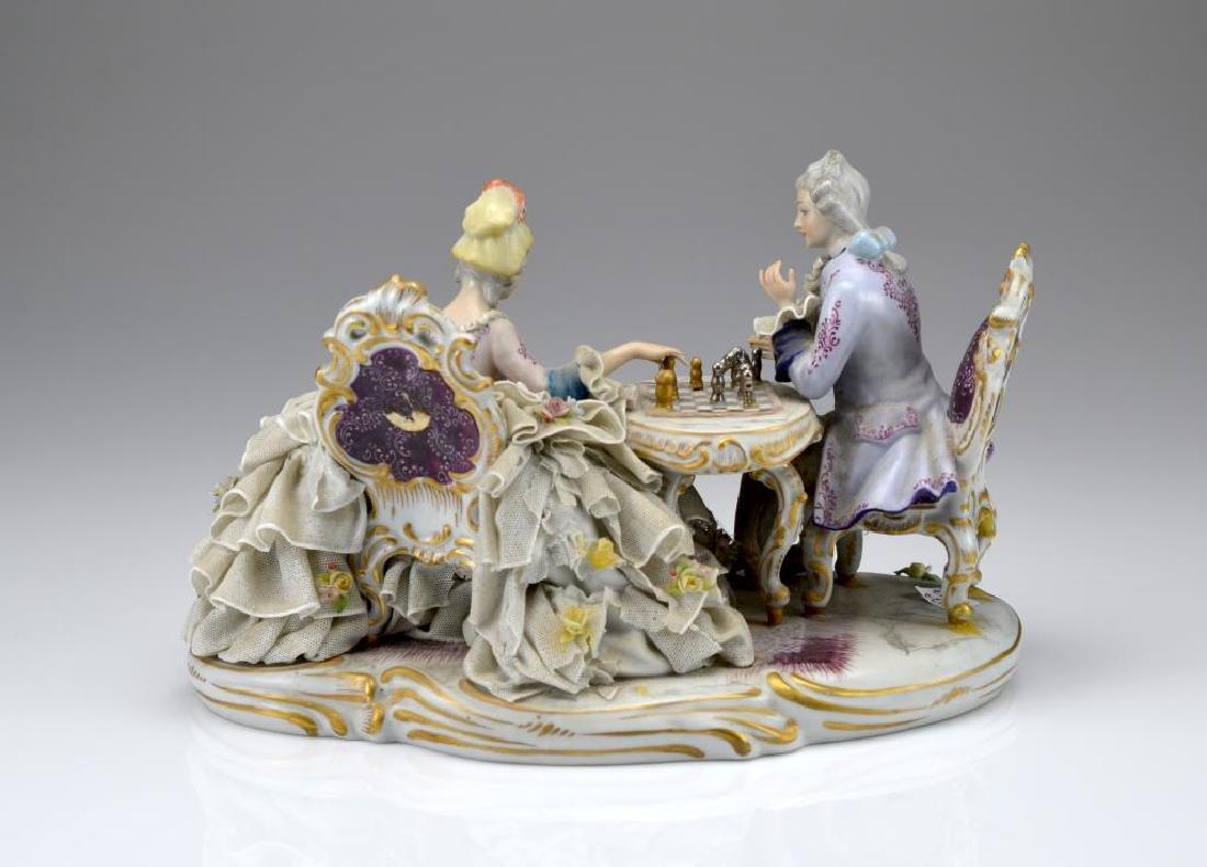 Continental porcelain figural group - 3