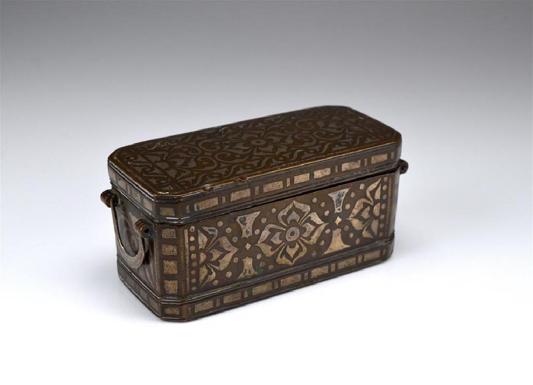 Southeast Asian damascene betel nut box