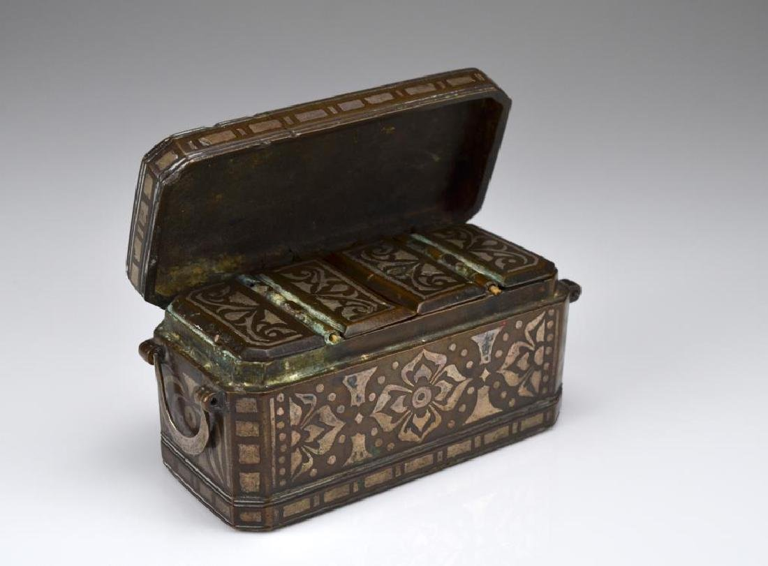 Southeast Asian damascene betel nut box - 2