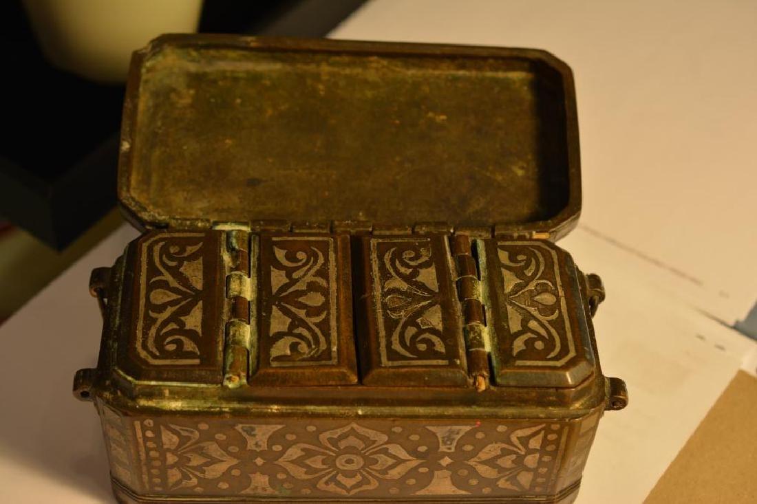 Southeast Asian damascene betel nut box - 4