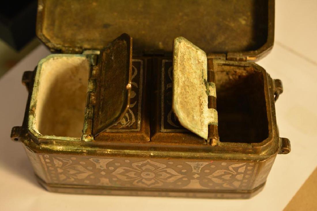 Southeast Asian damascene betel nut box - 5