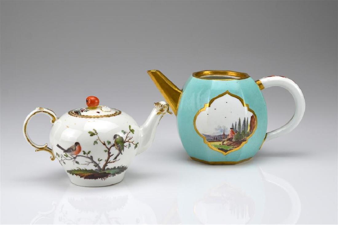 Two Continental porcelain teapots