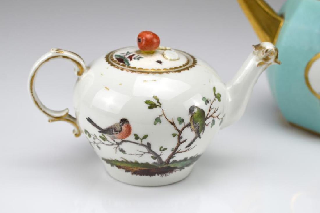 Two Continental porcelain teapots - 2