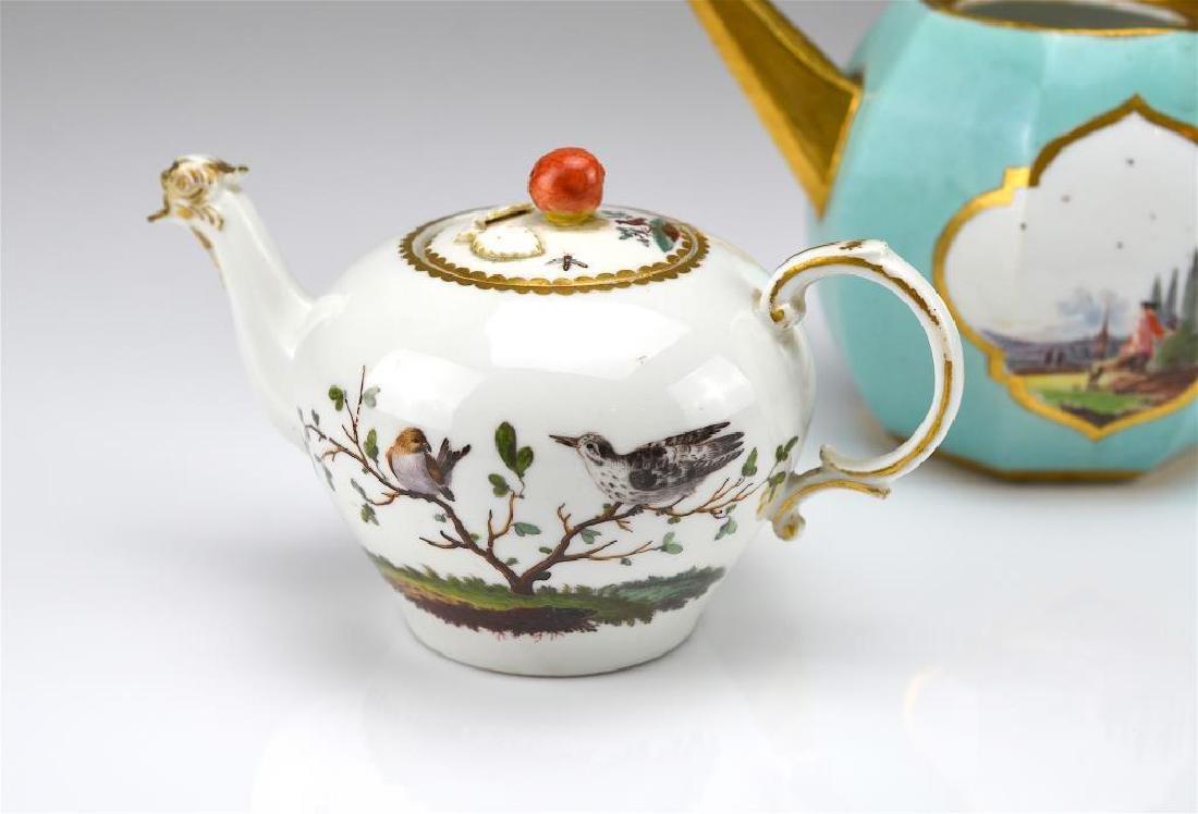 Two Continental porcelain teapots - 3