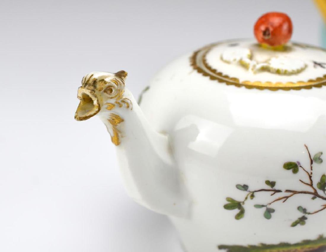 Two Continental porcelain teapots - 4