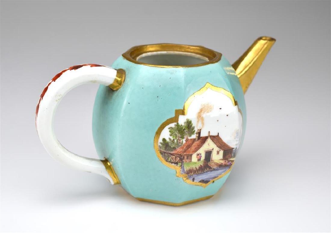 Two Continental porcelain teapots - 6