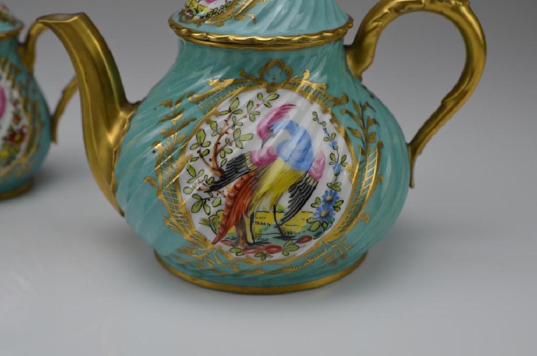French three piece porcelain tea service - 2