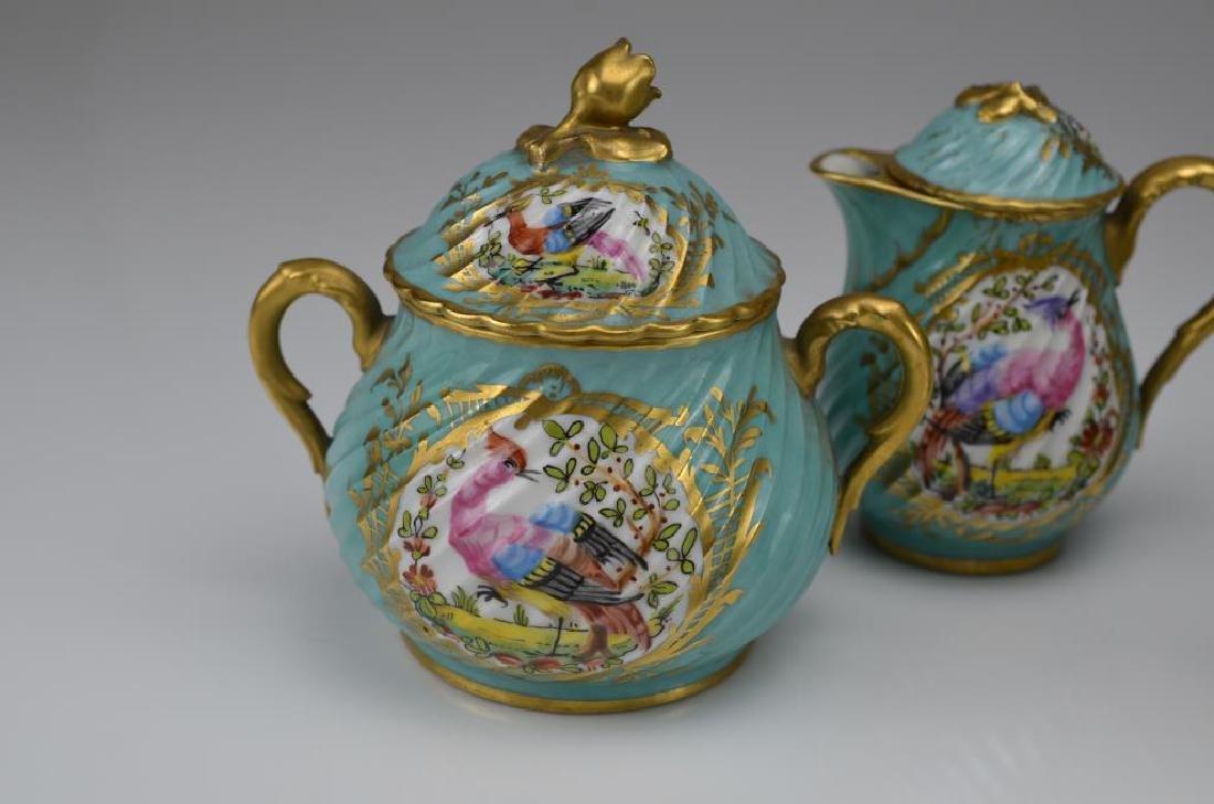 French three piece porcelain tea service - 3