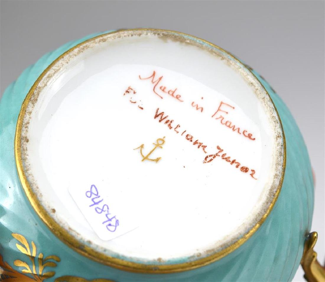 French three piece porcelain tea service - 4
