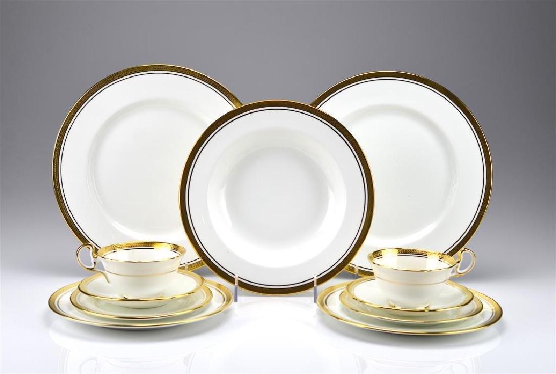 55 pcs of Aynsley Elizabeth porcelain dinnerware