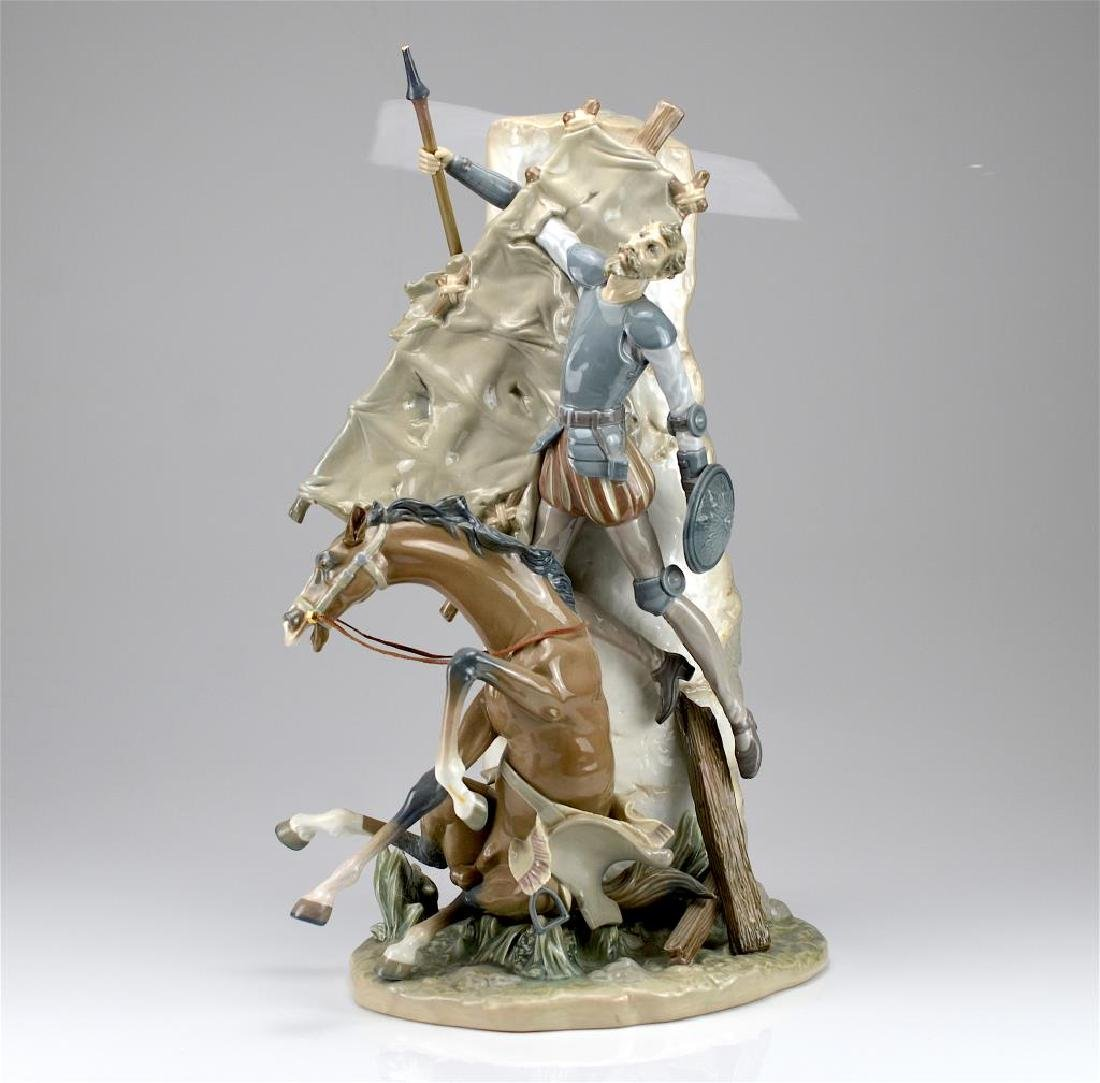 Lladro Don Quixote and the Windmill figural group