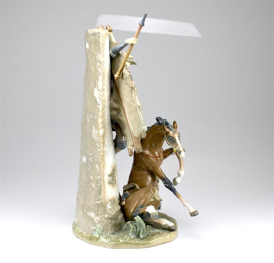Lladro Don Quixote and the Windmill figural group - 2
