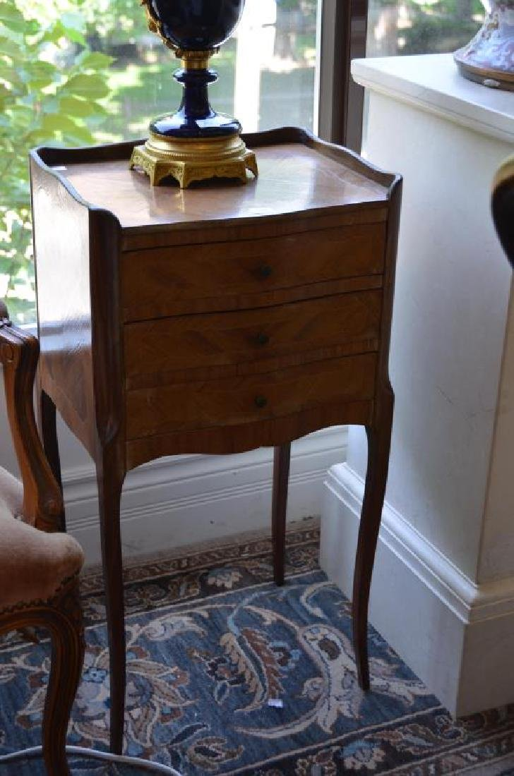 French small three drawer side table