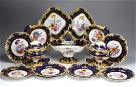 19th C English porcelain dessert service