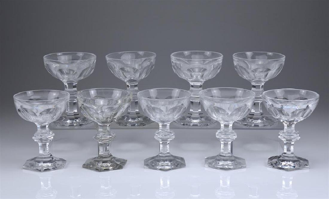 14 French Baccarat Harcourt champagne glasses