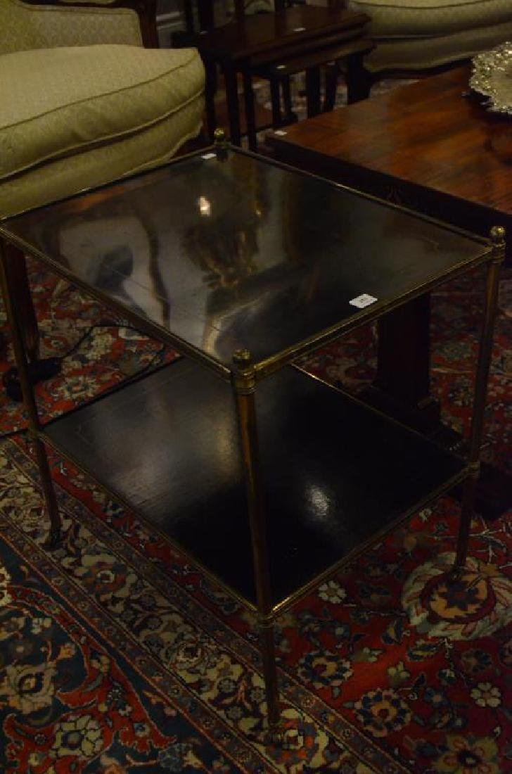 Three brass side tables - 2