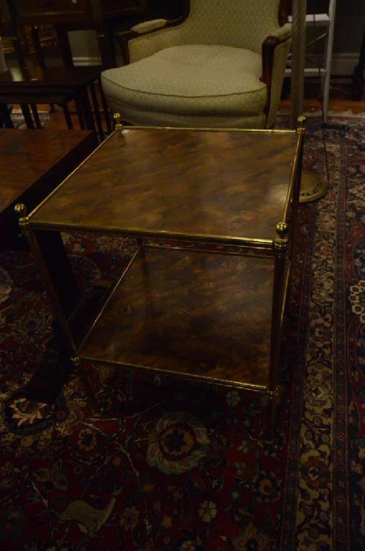 Three brass side tables - 3