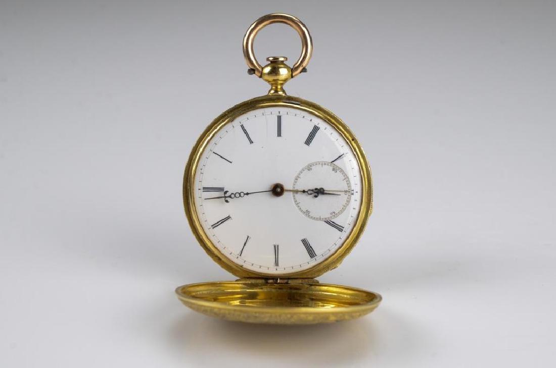 American gold hunter pocket watch