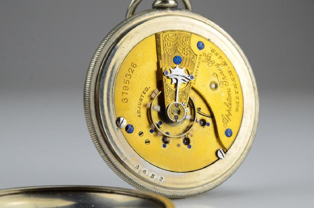 Waltham railroad pocket watch - 8