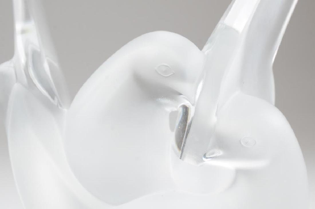 Pair of Lalique France Sylvie frosted glass vases - 2
