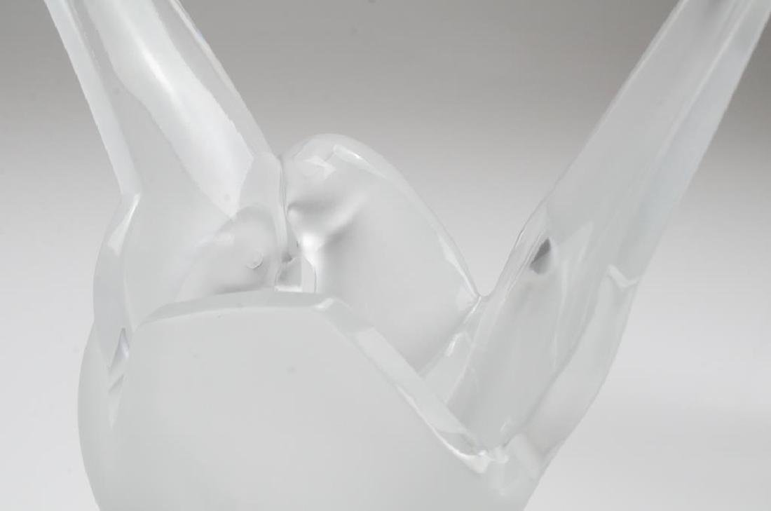 Pair of Lalique France Sylvie frosted glass vases - 5