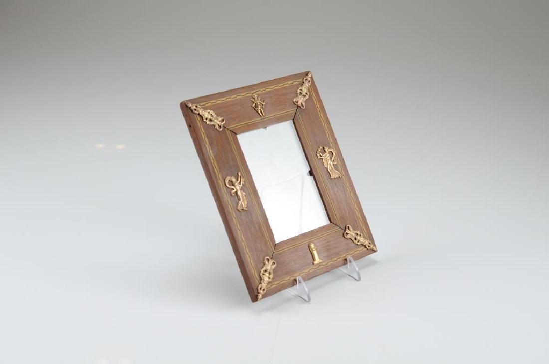 Small antique wood frame with Classical accents - 2