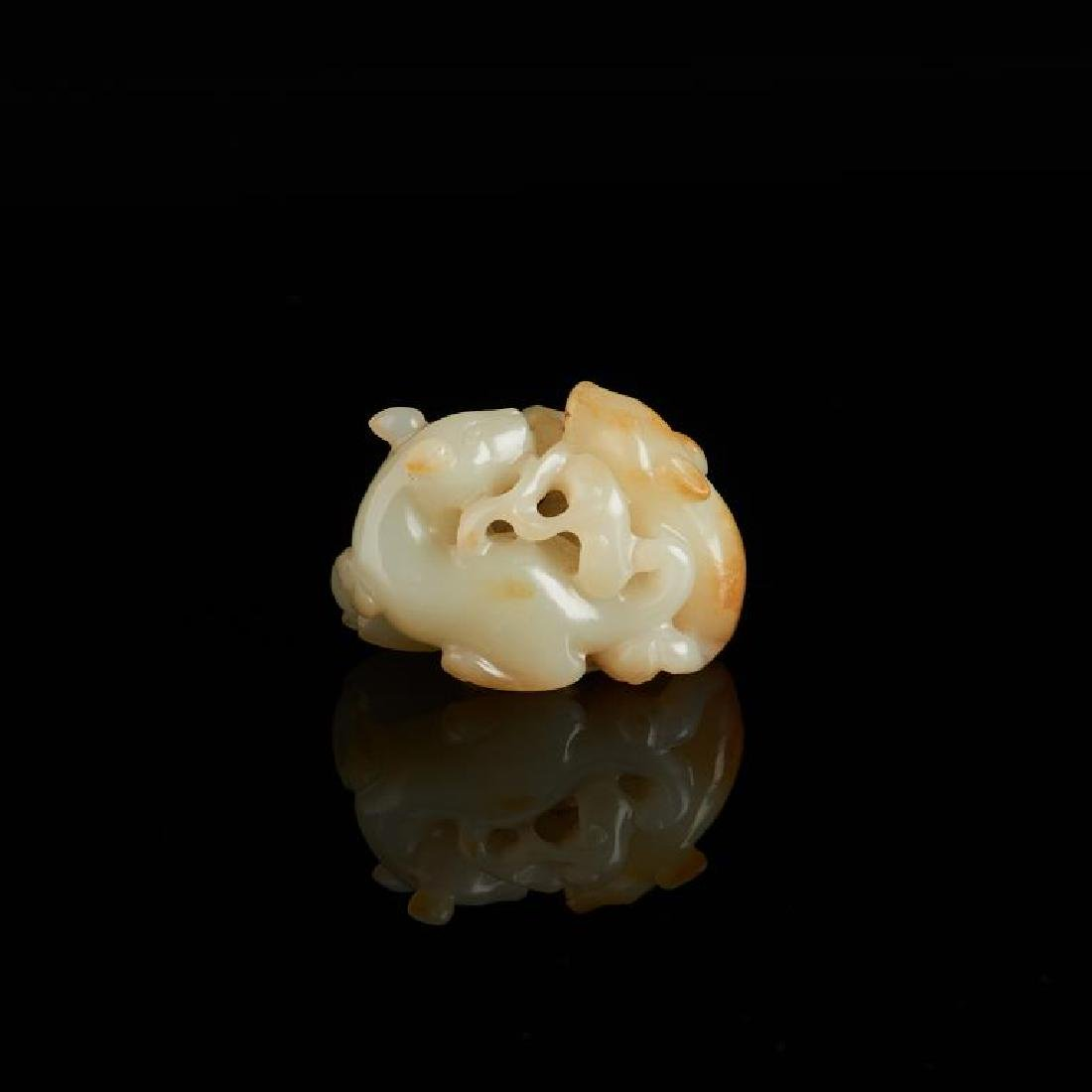CHINESE JADE CARVED MYTHICAL ANIMAL GROUP - 3