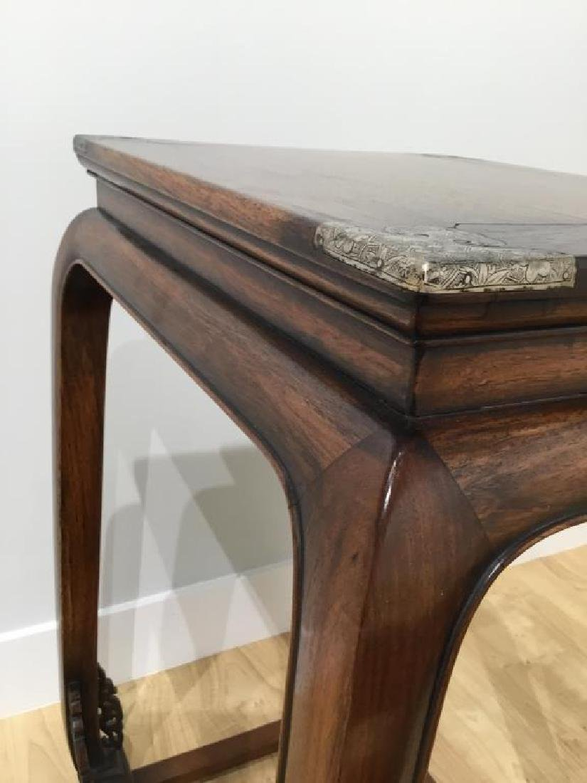 CHINESE HUANGHUALI HARDWOOD SIDE TABLE - 3