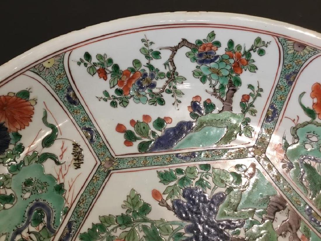 CHINESE FAMILLE VERTE PORCELAIN CHARGER - 10