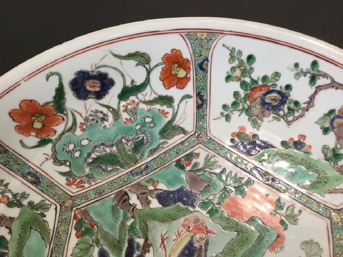 CHINESE FAMILLE VERTE PORCELAIN CHARGER - 2