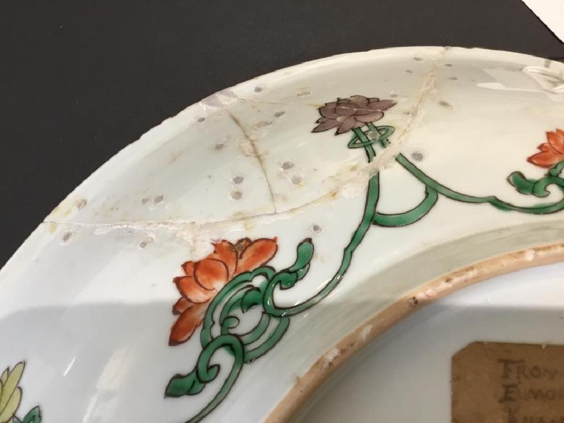 CHINESE FAMILLE VERTE PORCELAIN CHARGER - 4