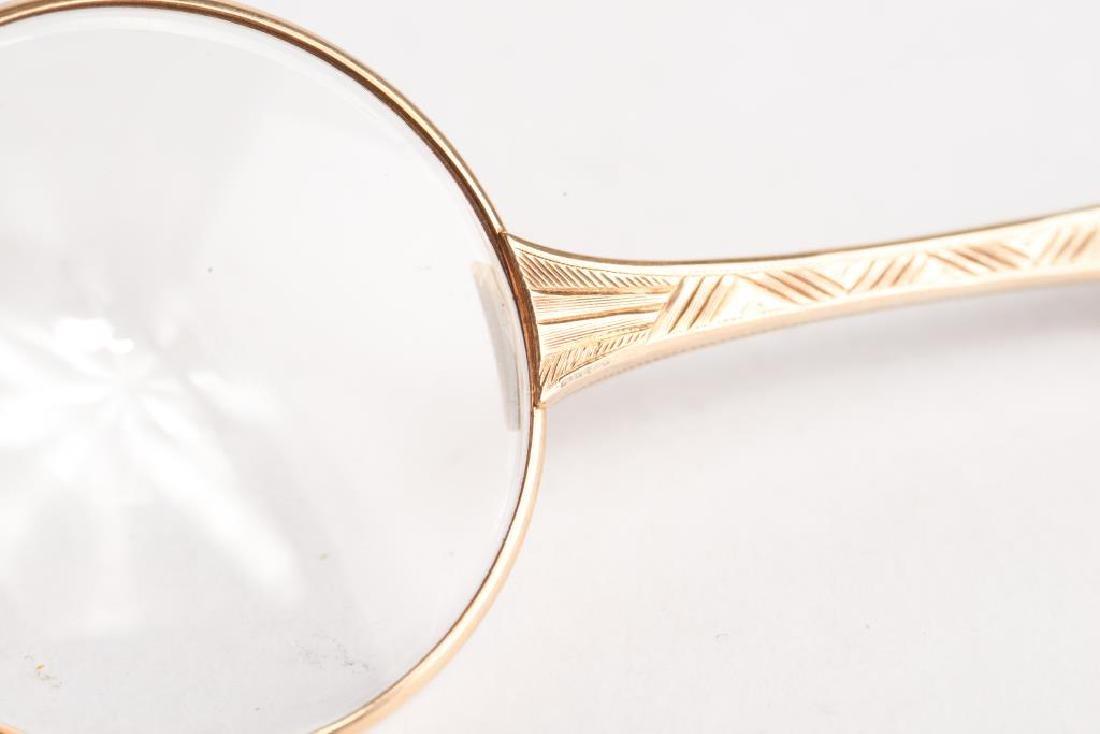 ANTIQUE GOLD LORGNETTE GLASSES - 5