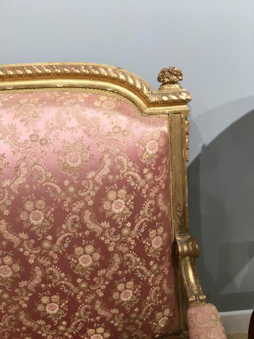 FRENCH CARVED GILTWOOD SETTEE - 3