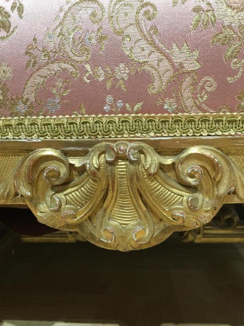 FRENCH CARVED GILTWOOD SETTEE - 7