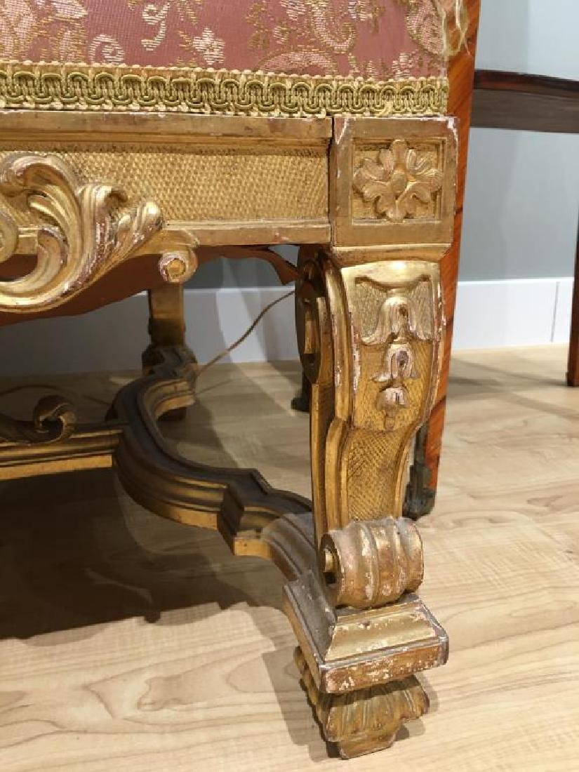 FRENCH CARVED GILTWOOD SETTEE - 8