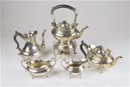 Five piece Birks silver tea and coffee service