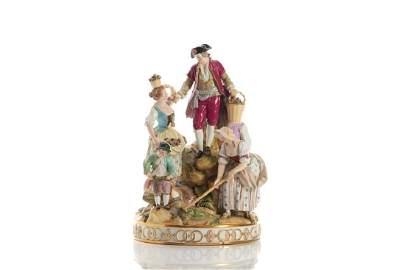Large Meissen porcelain figural group