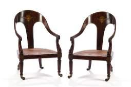 Pair of Regency Rosewood chairs