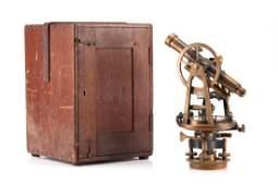American antique theodolite surveyors transit
